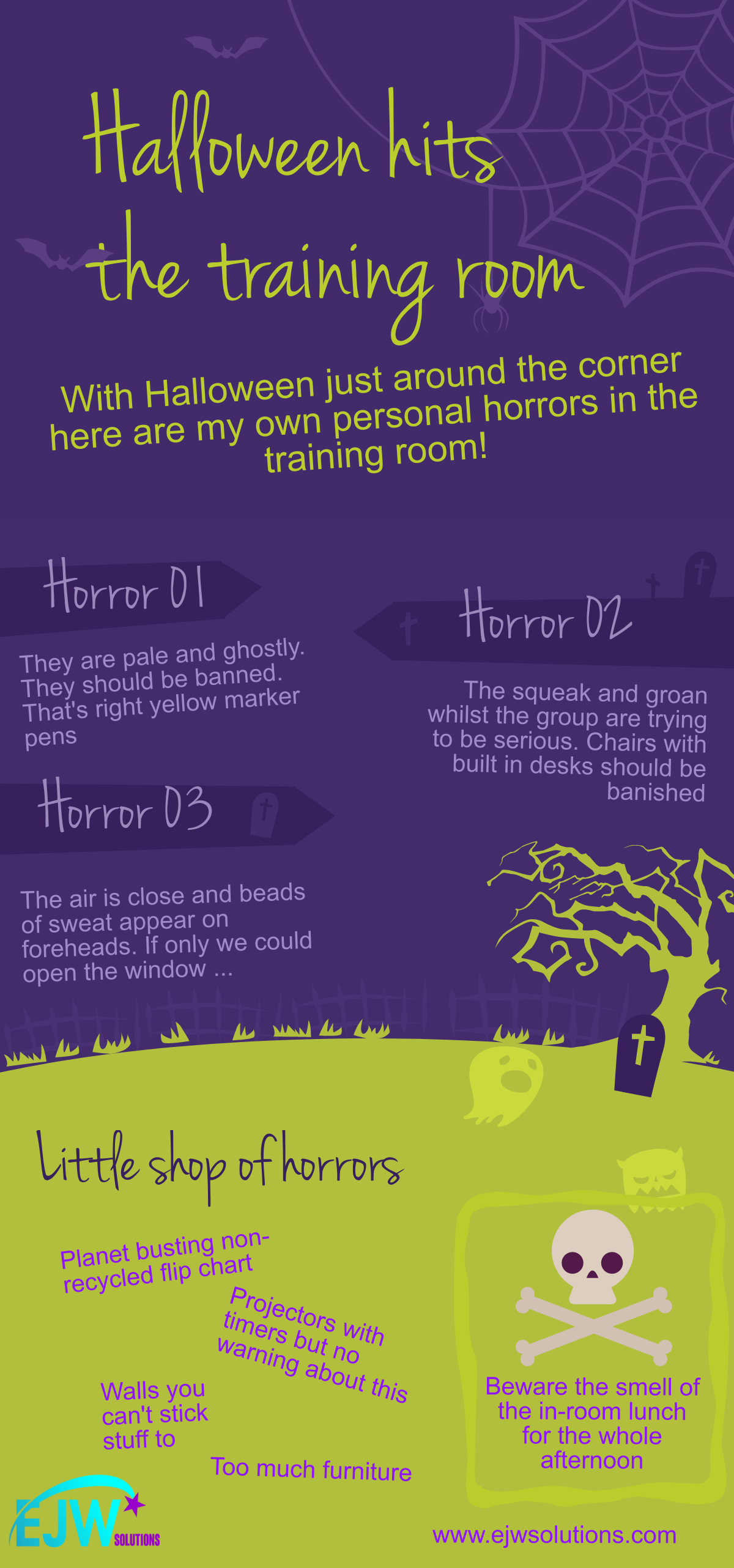 A spooky collection of training room horrors