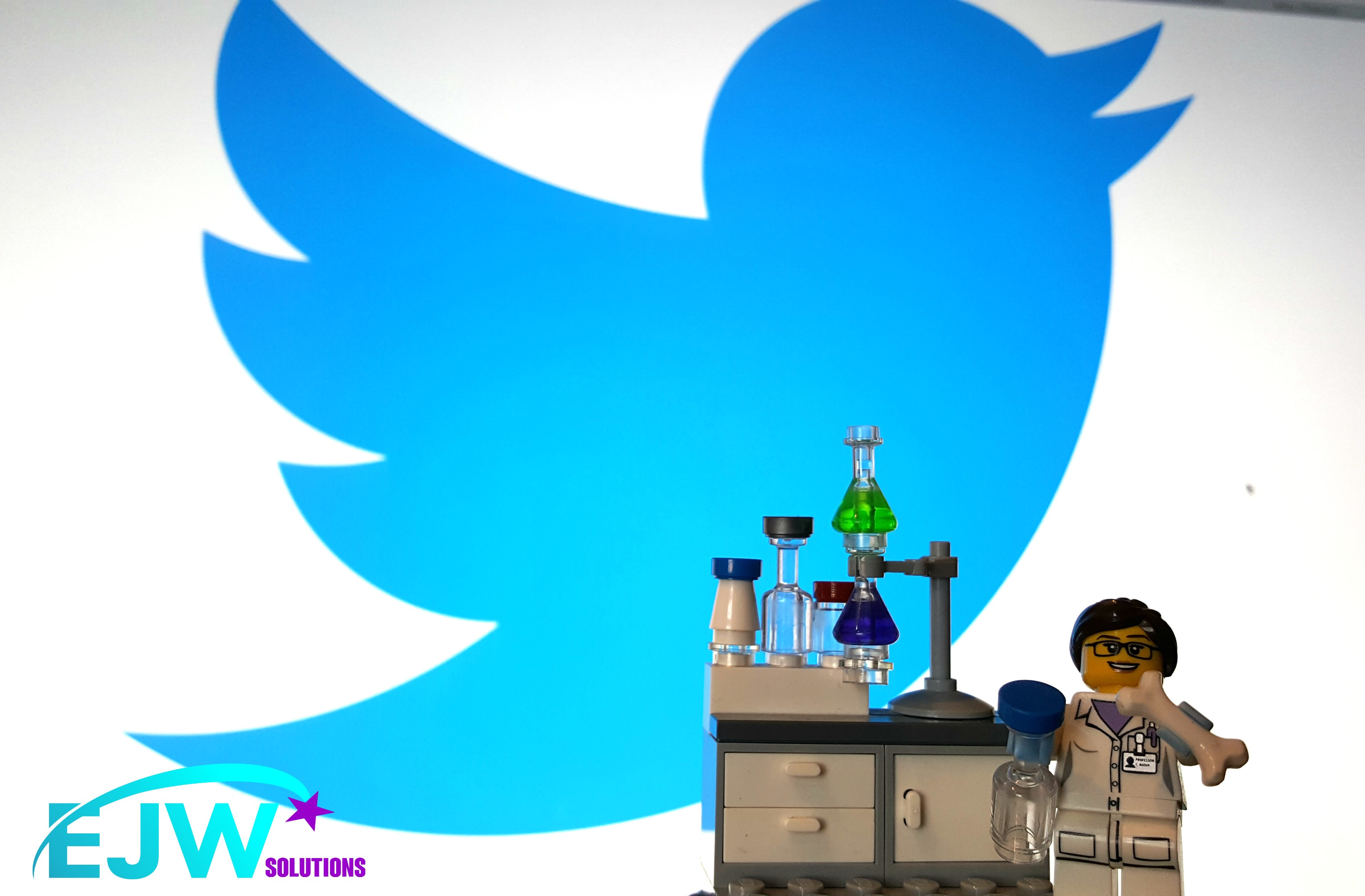 scientist by a twitter logo